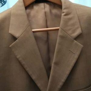 Jones NY Tan Wool/Silk Suit 44R